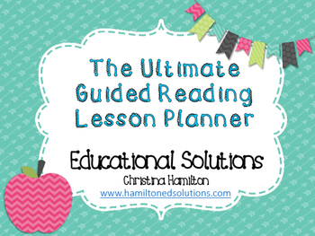 FREE Guided Reading Planner