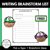 FREE - Guided Writing - My Brainstorm List
