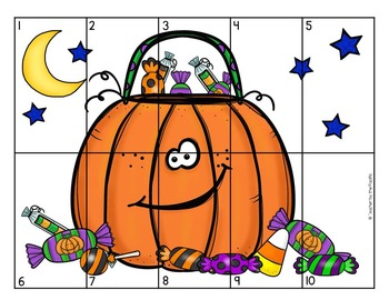 FREE HALLOWEEN Math Number Puzzle 1 – 10
