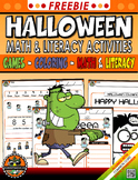 FREE HALLOWEEN NO PREP Variety Activities Pack, Alphabets,