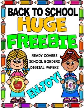 FREE- HUGE BACK TO SCHOOL CLIP ART BUNDLE