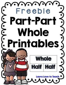 FREE Part Part Whole Worksheets