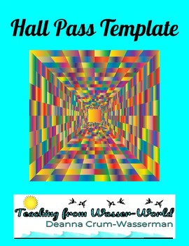 FREE Hall Pass Template