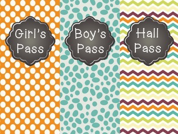 FREE Hall Passes *New*
