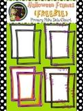 {FREE} Halloween Borders & Frames {Primary Polka Dots Clip Art}