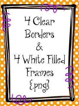{FREE} Halloween Borders & Frames {Primary Polka Dots Clip Art}