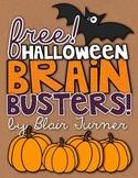 {FREE!} Halloween Brain Busters!
