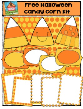 FREE Halloween Candy Corn Kit {P4 Clips Trioriginals Digit