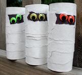 FREE Halloween Cardboard Tube Mummies