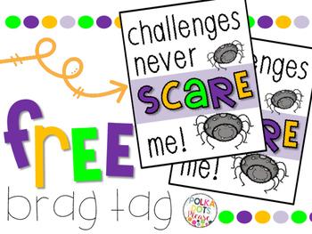 FREE Halloween Challenges Brag Tag