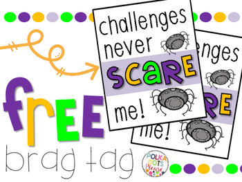 FREE Halloween Challenges Brag Tag