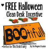 FREE Halloween Clean Desk Classroom Incentive (Perfect for