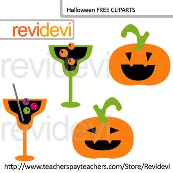 FREE Halloween Clip Art (Jack O Lantern Pumpkins and Cocktails)