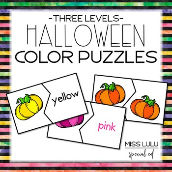 Halloween Color Matching Puzzles {Freebie}