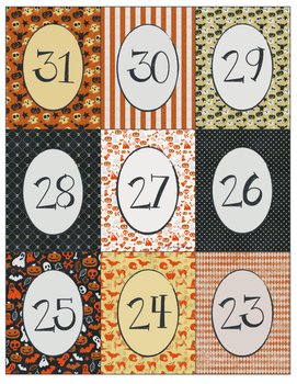 FREE Halloween Countdown Cards