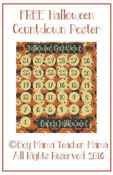 FREE Halloween Countdown Poster