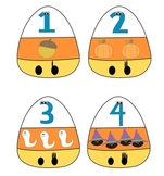 Halloween Counting Candy Corns Activity