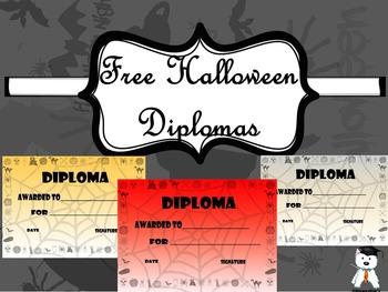 FREE Halloween Diplomas #Halloween2017