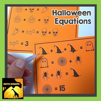 FREE Halloween Equations