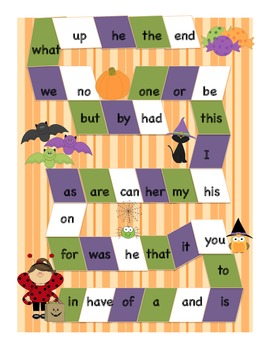 FREE Halloween Fall, Sight Word Game, Dolch Fry first 100