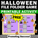 FREE Halloween File Folder Game, Beginning Sounds Cut and Paste Worksheets