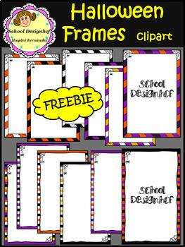 FREE Halloween Frames Clip Art - Freebie (School Designhcf)