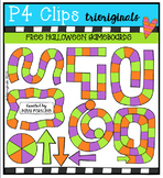 FREE Halloween Game Boards (P4 Clips Trioriginals Digital Clip Art)