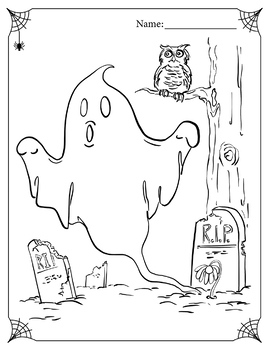 Free Halloween Ghost Coloring Page By Alicia And Joe Tpt