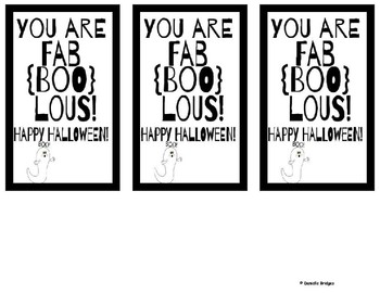 FREE Halloween Gift Tag & Recipe