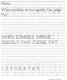 FREE Halloween Handwriting Assessment