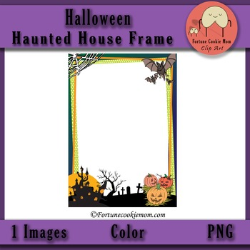 FREE Halloween Haunted House Frame