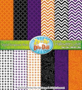 FREE Halloween Love Digital Scrapbook {Zip-A-Dee-Doo-Dah Designs}