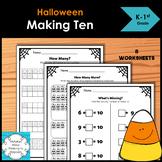Halloween Making Ten worksheets