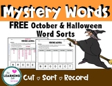 FREE Halloween Making Words, Seasonal Word Sorts, Fun!