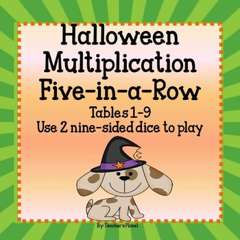 FREE Halloween Multiplication Five-in-a-Row Tables 1-9!