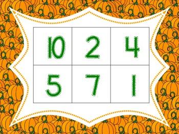 FREE! Halloween Number Bingo 0-10