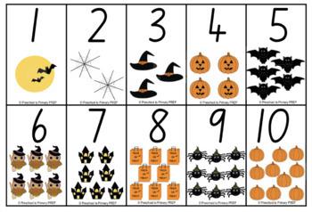 FREE Halloween Number Flashcards
