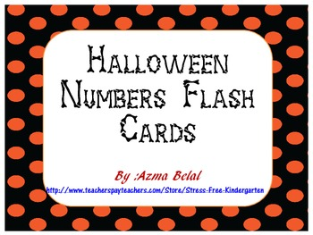 FREE Halloween Numbers Flash Cards