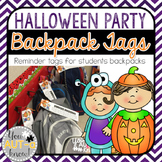 FREE Halloween Party Backpack Tags