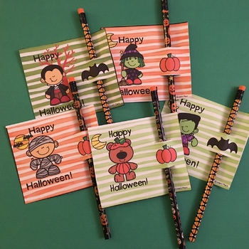 FREE Halloween Pencil Tags