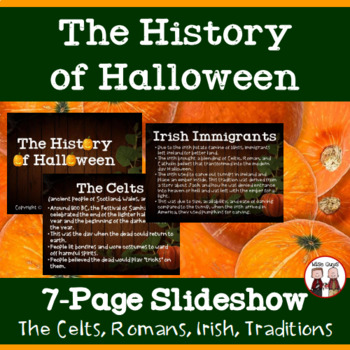 History of Halloween by Wise Guys | Teachers Pay Teachers