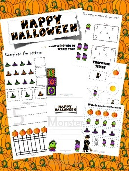 FREE Halloween Prek Bundle