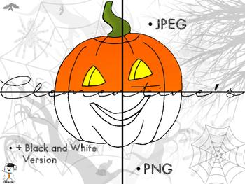 FREE Halloween Pumpkin Clip Art #Halloween2017