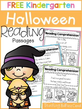 FREE Kindergarten Reading Comprehension (Halloween Edition)