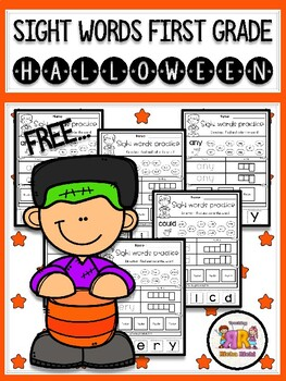 FREE Halloween Sight Word Practice (First Grade)