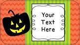 FREE Halloween Slides, Posters, Printables {EDITABLE}
