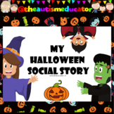 FREE Halloween Social Story Coronavirus Edition for Autism Special Education