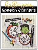 FREE Halloween Speech Spinners!