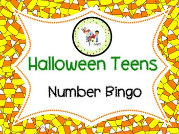 FREE! Halloween Teens! Number Bingo