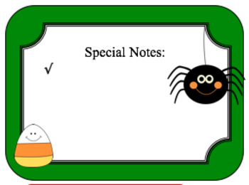 FREE Halloween Themed Class Newsletter
